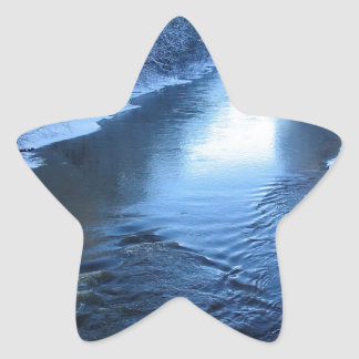 Water Snow Covered Winter Star Sticker