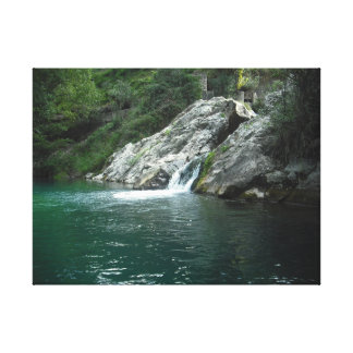 Water, Spanish river mountain. Water, spanish to Canvas Print