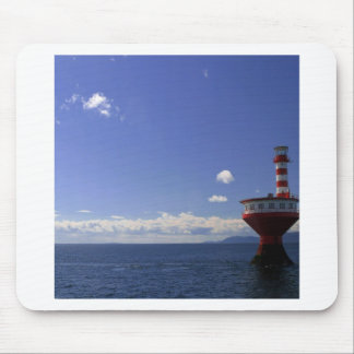 Water Special Lighthouse Day Red White Mousepads