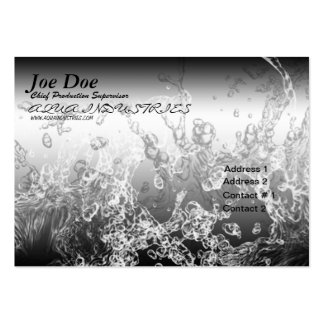 Water Splash Aqua Business Card