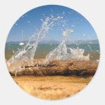 Water Splash Classic Round Sticker