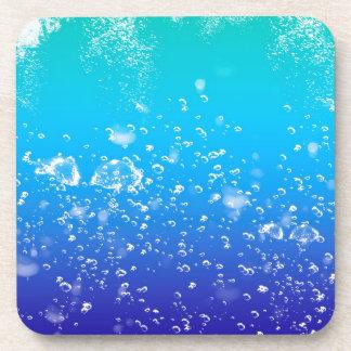 Water splash beverage coasters