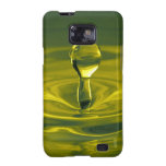 Water Splash in Green/Yellow Samsung Galaxy S Samsung Galaxy SII Cover