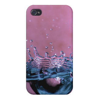 Water Splash in Pink andBlue iPhone 4 Case