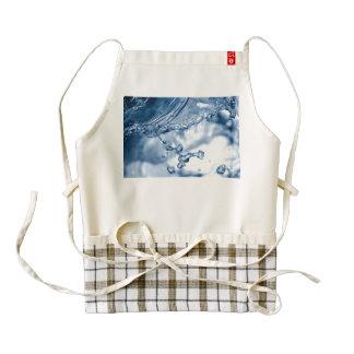 Water splash macro zazzle HEART apron
