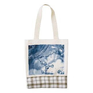 Water splash macro zazzle HEART tote bag