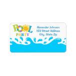 Water Splash Pool Party Boy Address Label Address Label