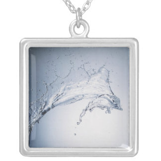 Water Splash Silver Plated Necklace