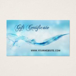 Water Splash Spa Gift Certificate