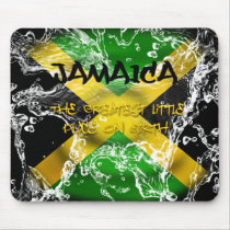 Water  Splashed Jamaica Flag Mousepad
