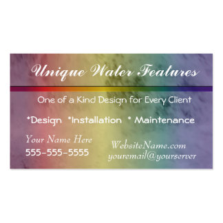 Water Splashes Business Card- customize Business Card