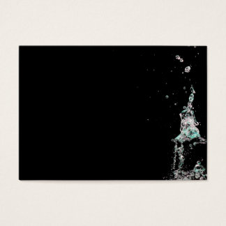 Water splashes on black background business card
