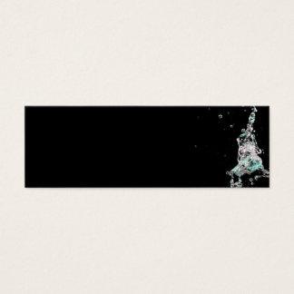 Water splashes on black background mini business card