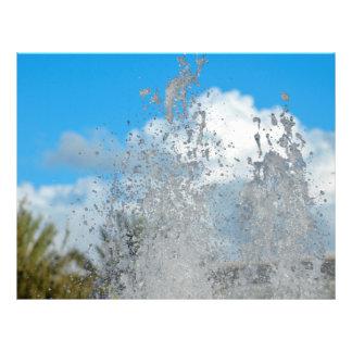 water splashing against blue sky flyers
