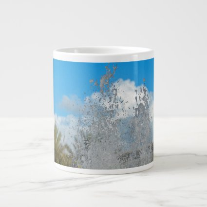 water splashing against blue sky jumbo mugs