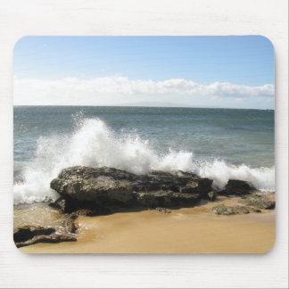 Water Splashing on Beach Ocean Hawaii Mouse Pad