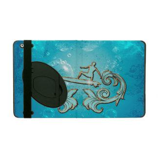 Water sport, surfboarder iPad folio case