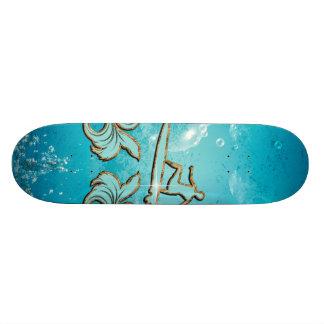 Water sport, surfboarder skateboard deck