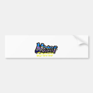 water sports bumper sticker