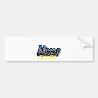 water sports bumper sticker