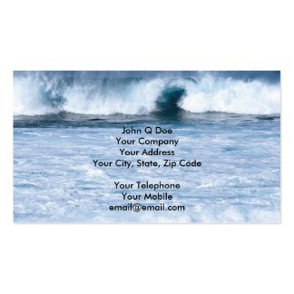 Water sports strong surf in the ocean business card
