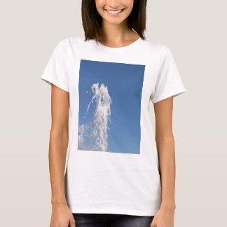 Water spraying from a fountain against the sky T-Shirt
