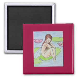 Water Sprite 2 Inch Square Magnet