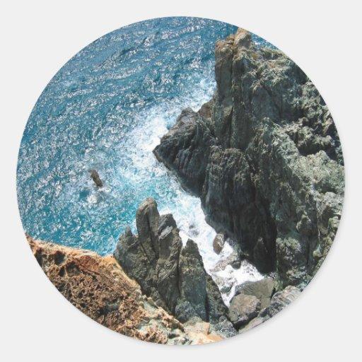 Water St John Cliff Classic Round Sticker