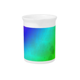 Water Stained Rainbow Beverage Pitcher