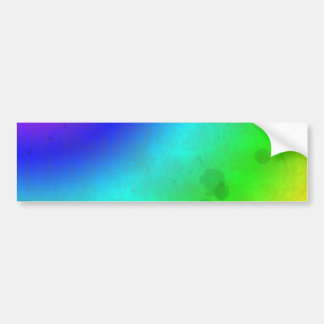 Water Stained Rainbow Bumper Sticker