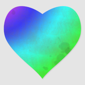 Water Stained Rainbow Heart Sticker