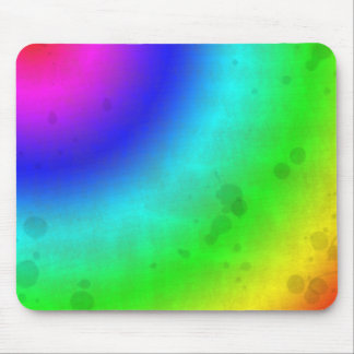 Water Stained Rainbow Mouse Pad