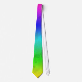 Water Stained Rainbow Neck Tie