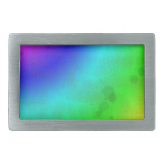 Water Stained Rainbow Rectangular Belt Buckle