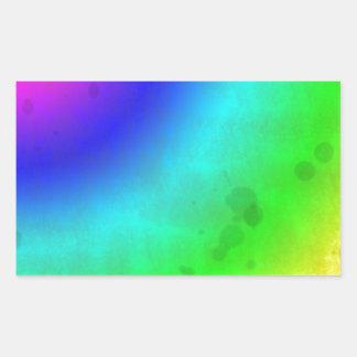 Water Stained Rainbow Rectangular Sticker