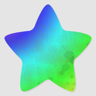 Water Stained Rainbow Star Sticker