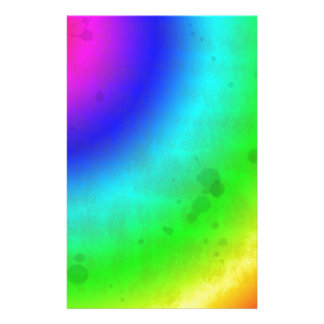 Water Stained Rainbow Stationery