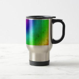 Water Stained Rainbow Travel Mug