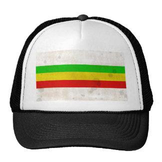 Water Stained Rasta Stripes Trucker Hat