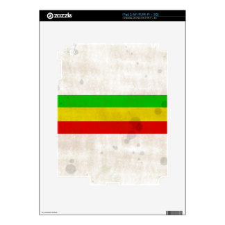 Water Stained Rasta Stripes iPad 2 Skin
