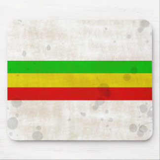 Water Stained Rasta Stripes Mouse Pad