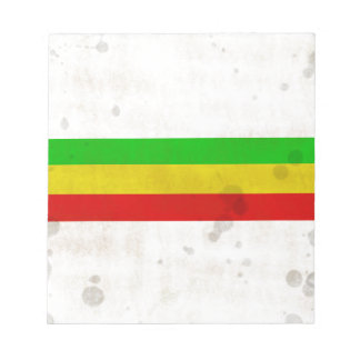 Water Stained Rasta Stripes Notepad