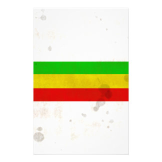Water Stained Rasta Stripes Stationery
