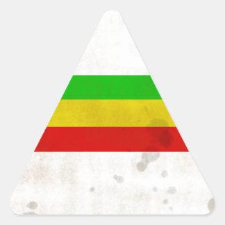 Water Stained Rasta Stripes Triangle Sticker