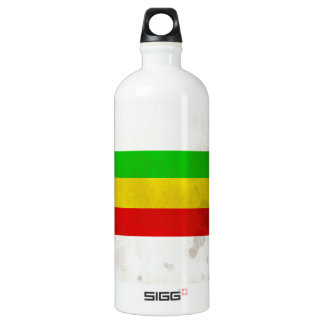 Water Stained Rasta Stripes Water Bottle
