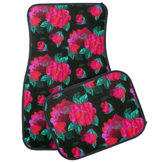 Water Stained Roses Car Mat