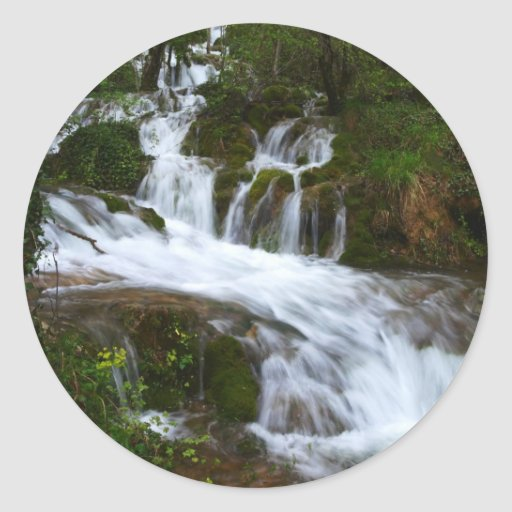 water.staircase.JPG Pegatina Redonda