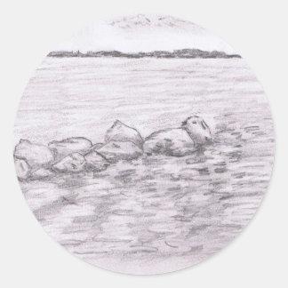 Water Stones Classic Round Sticker