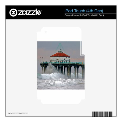 Water Storm Tides Hit Shore Pier iPod Touch 4G Decal