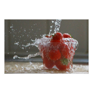 Water Strawberry Print
